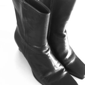 Michelle D Leather Boots M&M Brown Size 9